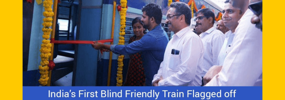 India's First Blind Friendly Train